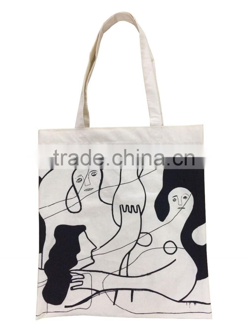 Good quality Promotional Natural colour recycled cotton tote bag
