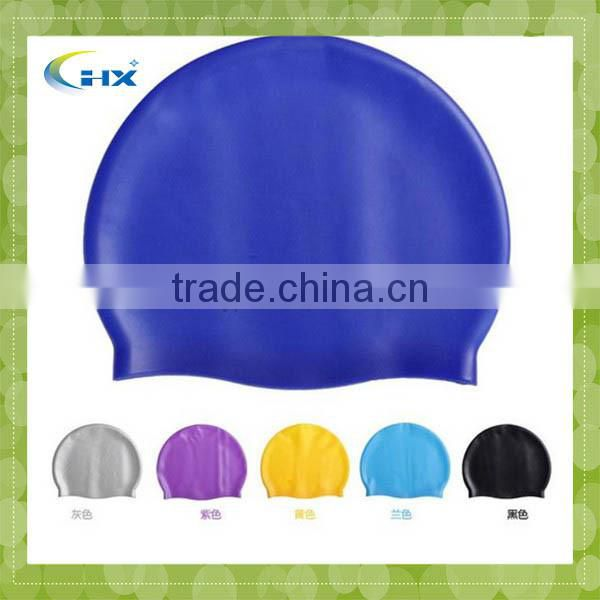 G-2014 Chinese Colourful printed silicone swim caps