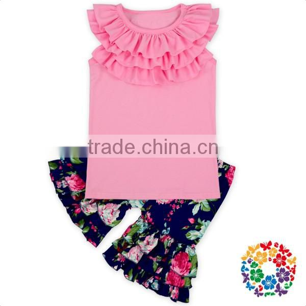 Wholesale Flower Open Back Summer Bodysuit Boho Playsuit Flutter Romper