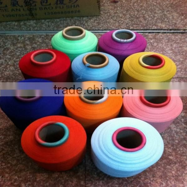 Factory price elastic spandex 20S cotton core spun yarn used in fabric