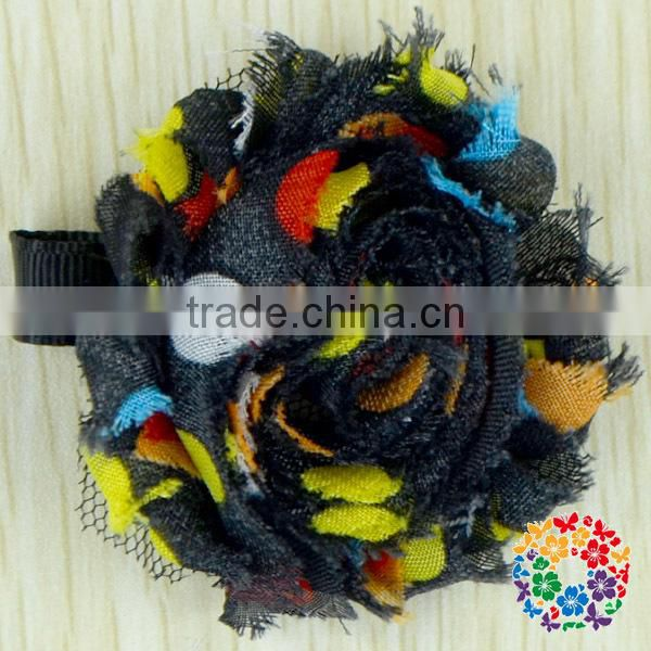 Wholesale Supply New Arrival Many Colors Beautiful Petal Flower Chiffon Flower Shabby Flower