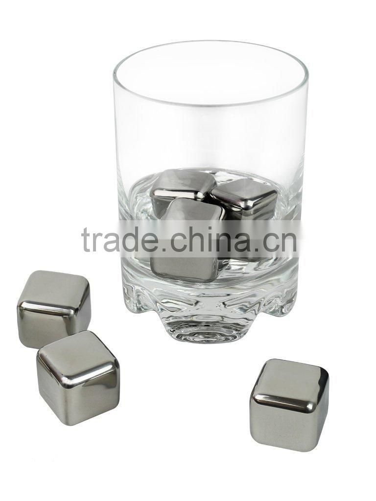 stainless steel ice cube for wine whiskey ice cube
