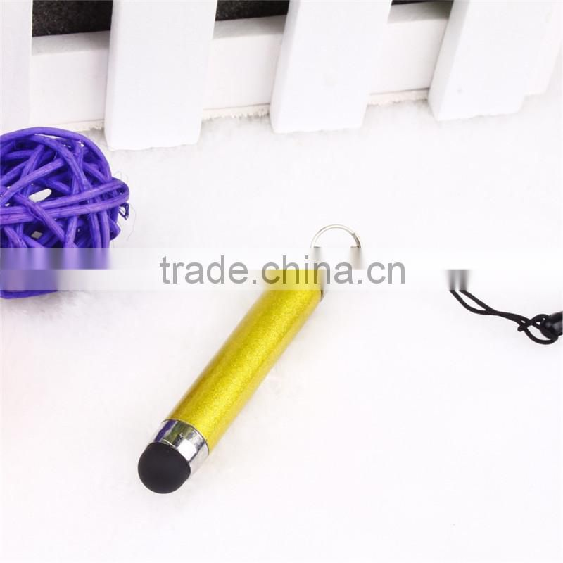TTO-0601 Mini stylus touch pen with keychain , short touch pen for mobilephone
