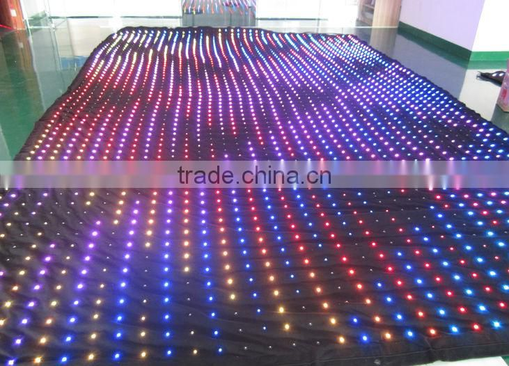 RGB 3in1 full color led star cloth for ceilings and wall lighting