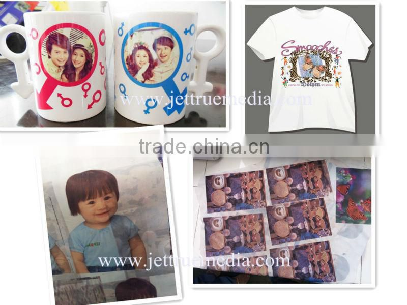 High sticky type 100g sublimation transfer paper A3 A4 size light clothing transfer