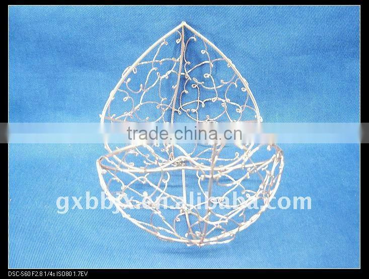 Cuprous peach metal iron festival decoration handmade fruit crafts