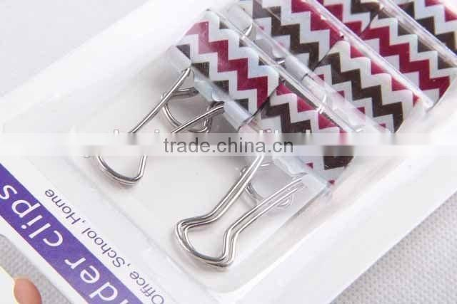 8pc colorful metal binder clips/ paper clip