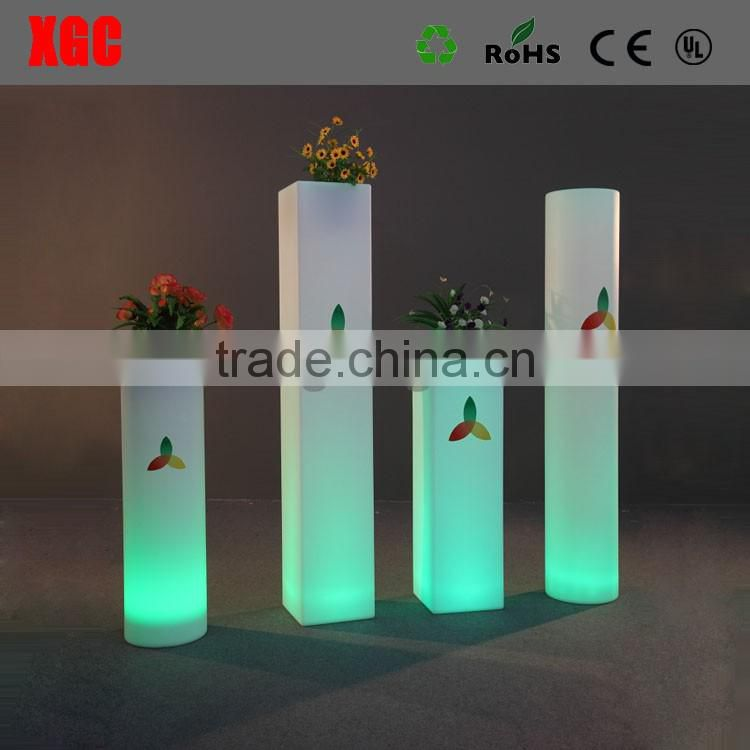 GD211 colored changeable wedding columns pillars with RGB colors