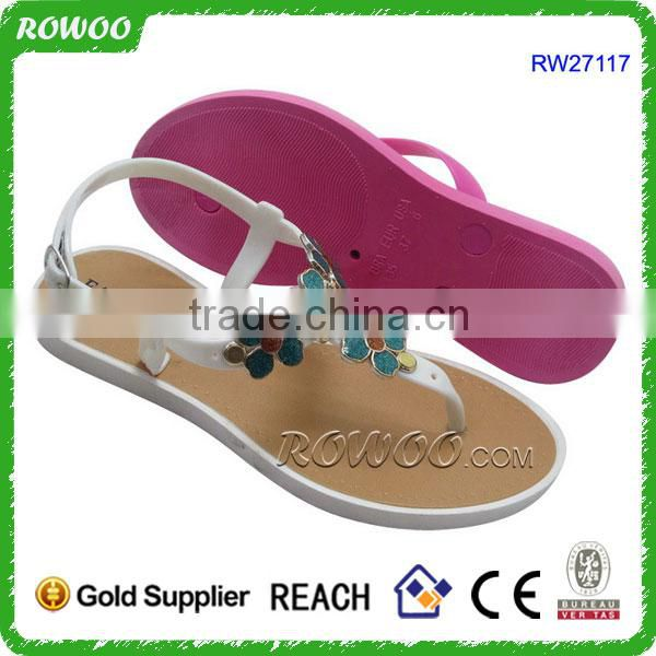 Elegant ladies summer flat sandals ladies brown sandles casual shoes casual fashion ladies flat sandals
