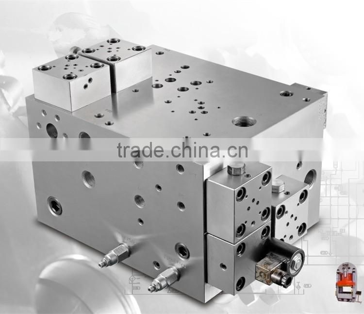 Aluminium hydraulic Extrusion Plant Machine parts cartridge manifold units