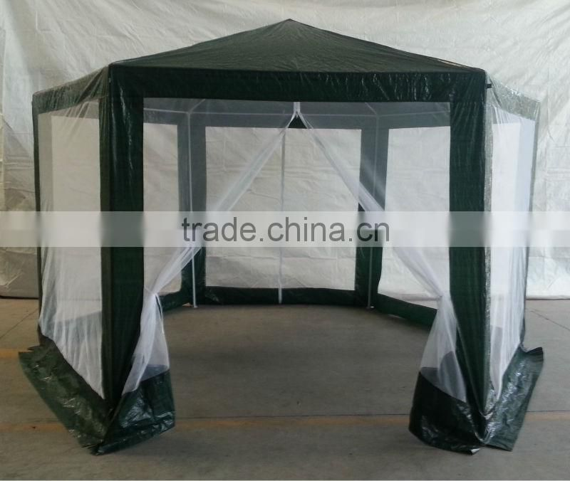 gazebo with mesh panels 4 meters