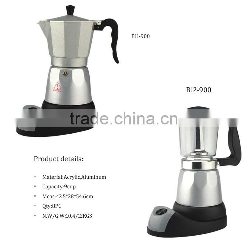9cups electric italian moka coffee maker