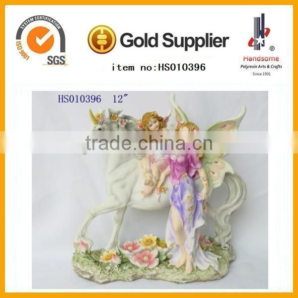 resin elegant lady figurine for home decoration crafts and gifts