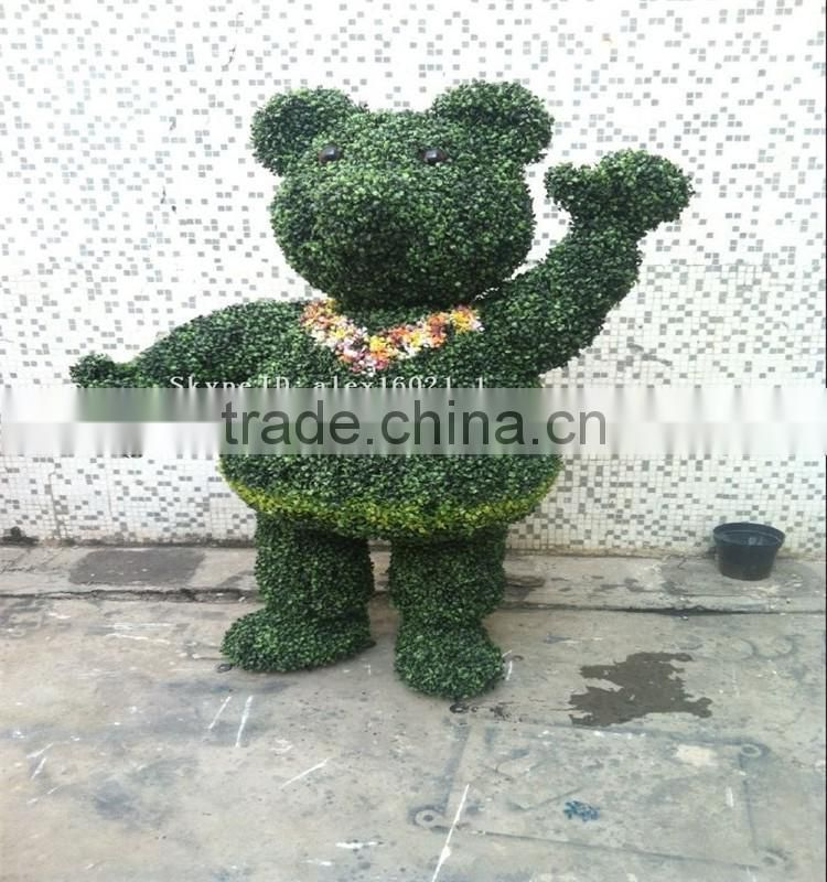 SJ20170052 hot sale manufacturer fake grass animal artificial topiary