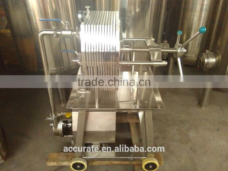 10 layers plate and frame filter press machine for syrup liquid 10TPH