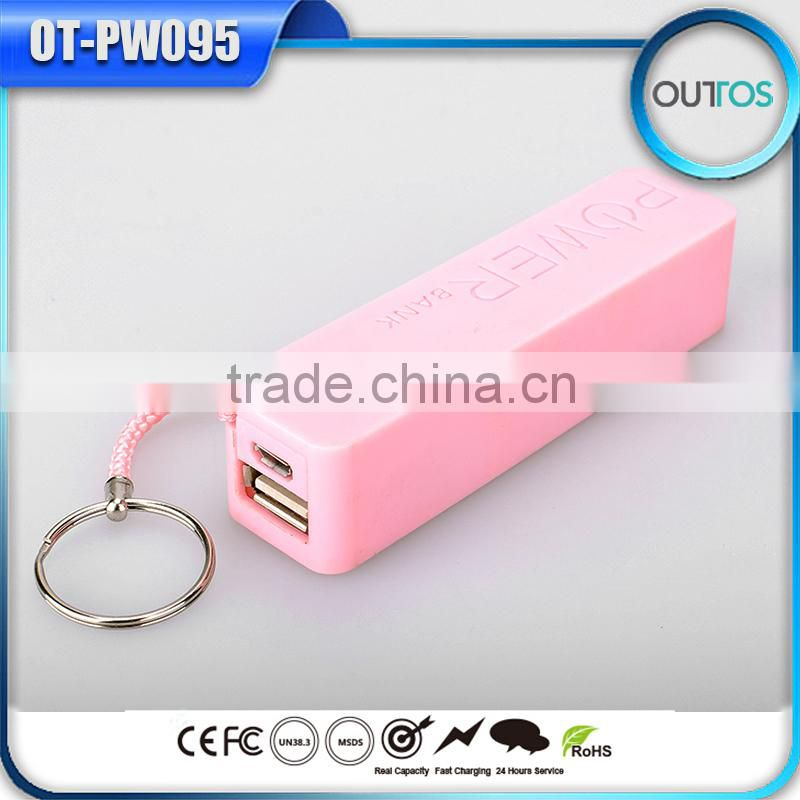 2015 Portable perfume wholesale 2600mah manual for power bank