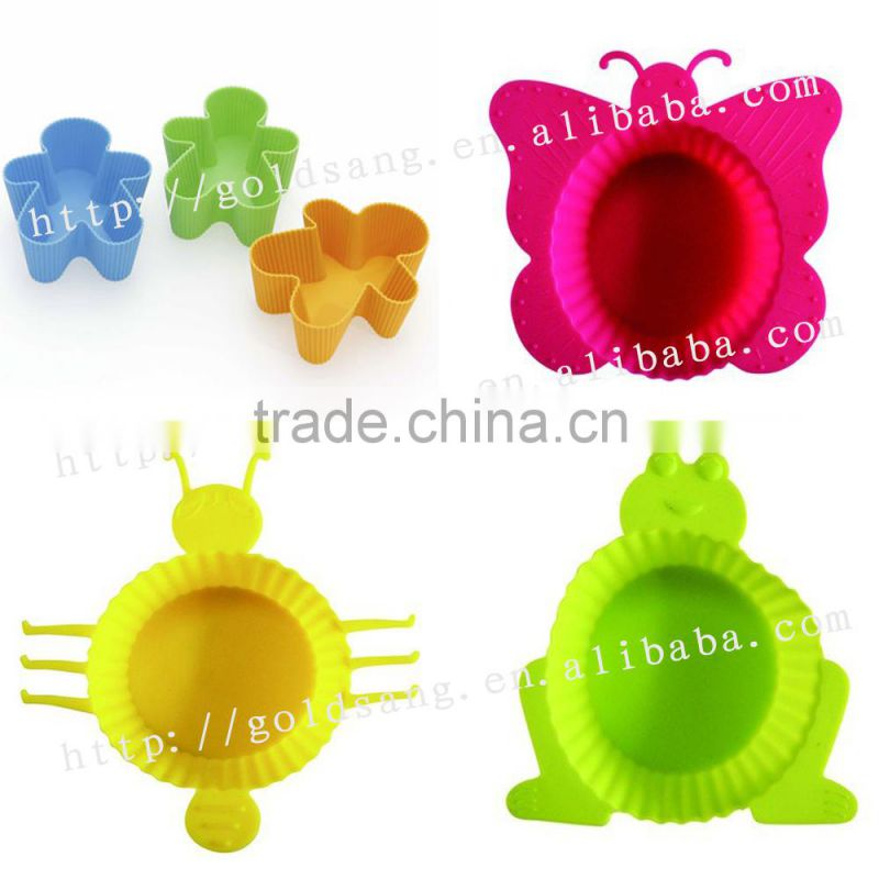 Colorful star multi shape silicone pizza pan cake molds