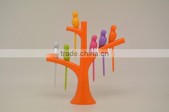 Creative, decorative plastic fruit fork Household daily necessities arts and crafts
