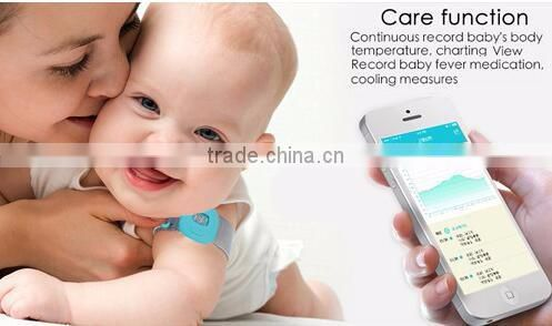 Medical & Household Baby Digital Thermometer, Wearable Smart Electronic Fever Monitor with LCD Display for Testing Temperature