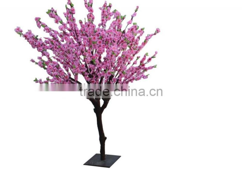 Small artificial peach flower tree for interior decoration