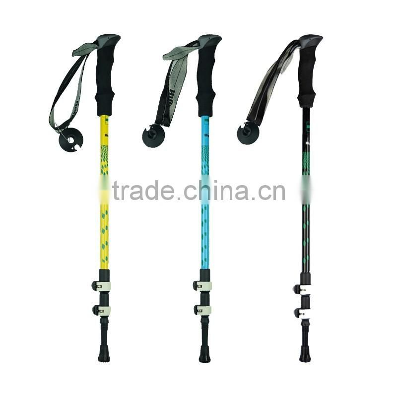 Carbon fiber, walking stick, trekking pole, external lock, 3 sections SZ15506