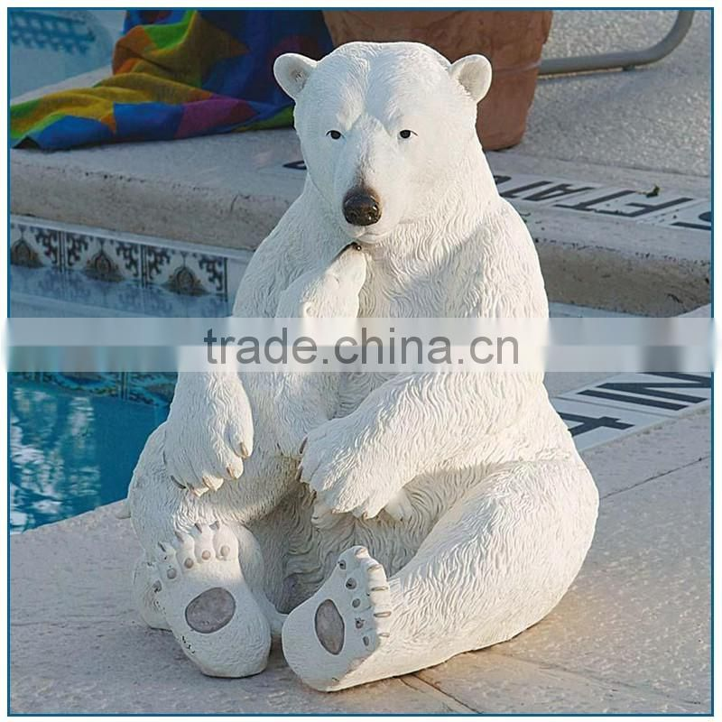 Fiberglass Animals polar bear statue for sale