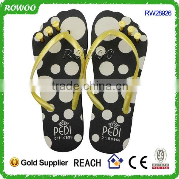 New design Salon China manufacturing flip flop,Cheap OEM five fingers Slops Flip flops