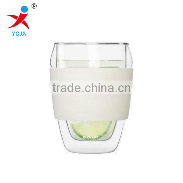 Brocilicate double wall glass cup without handle