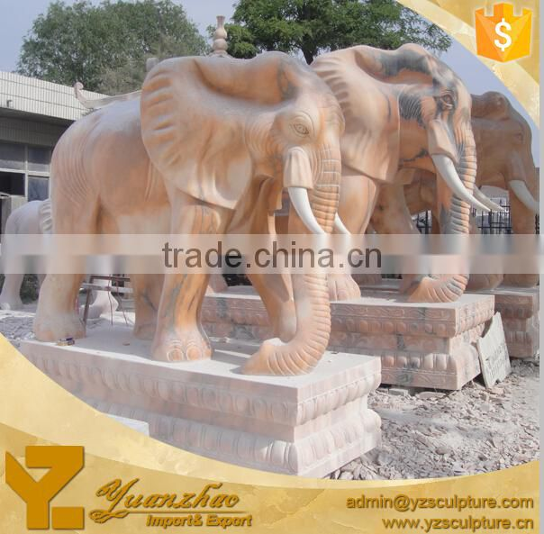 large outdoor life size stone marble elephant for garden decoration for hot sale