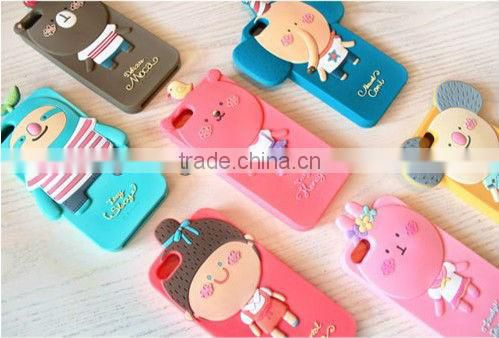 Lovely shapes silicone phone case