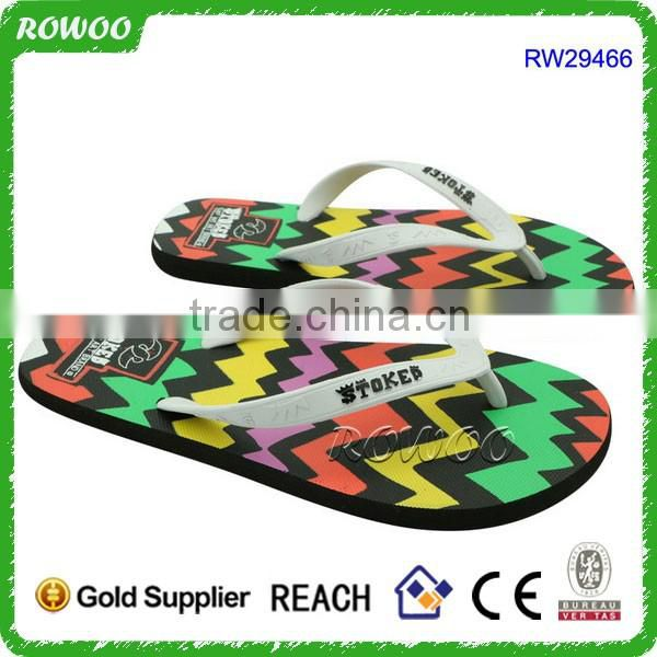 Lovely Heart Print Fancy Man Rubber Sandal Slipper Custom Flip Flop