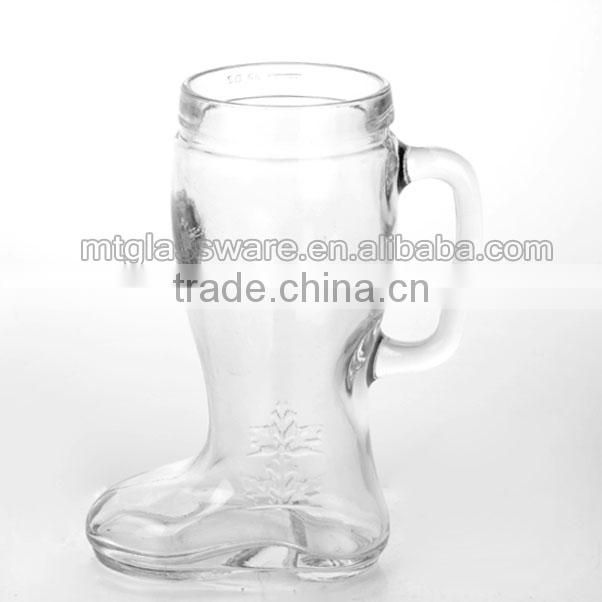 Beer Steins Glass Type and Eco-Friendly Feature football shapes beer glass