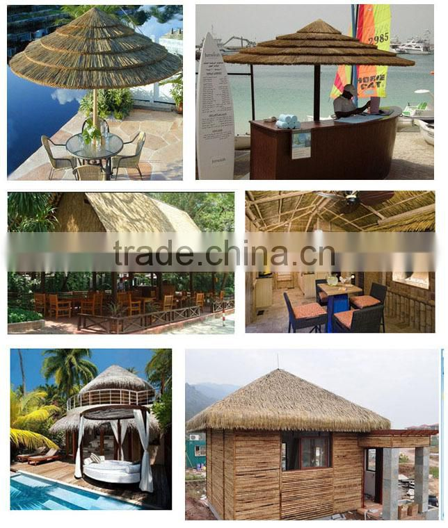 beach umberella decoration synthetic thatch roof , PVC material synthetic thatch roof