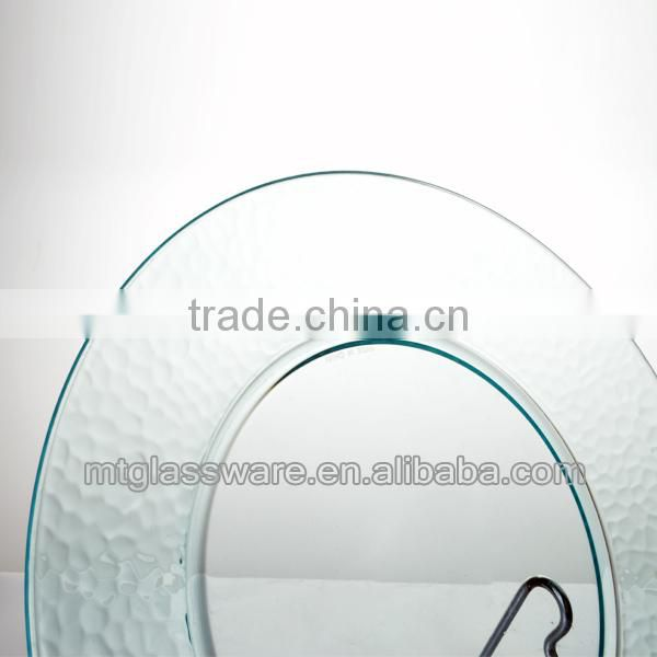 FDA,PP,Eco-friendly 13 inch clear disposable plastic charger plate