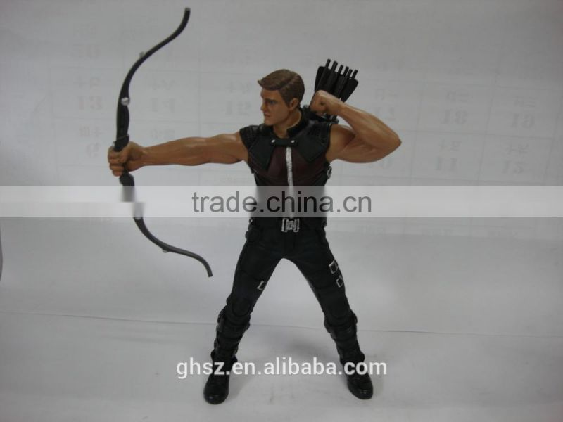 Guo hao hot sale custom avenger character Hawkeye marvel figure , Age of Ultron
