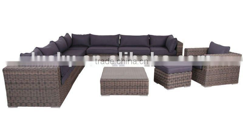 rattan new design corner sofa