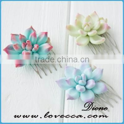 Newest Wedding Beautiful Succulent Comb Jewelry For Bridal