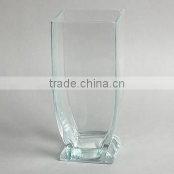 25cm Handmade Wholesale Artificial Flowers Clear Cylinder Glass Vase