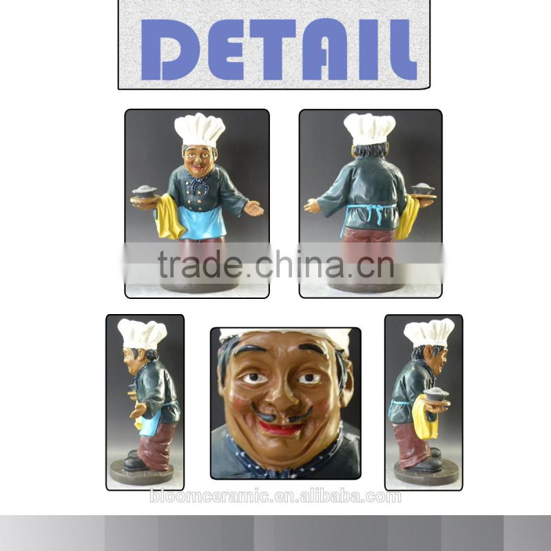 2015 New popular azmazing resin chef attendant figurines