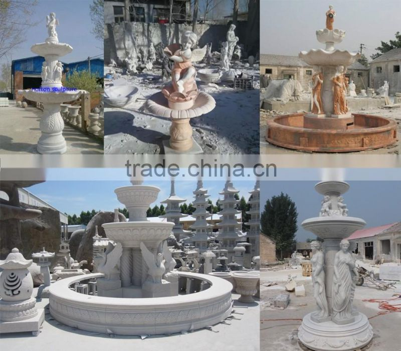 Large carved lady statue stone marble french garden fountains NTMF-SA545A