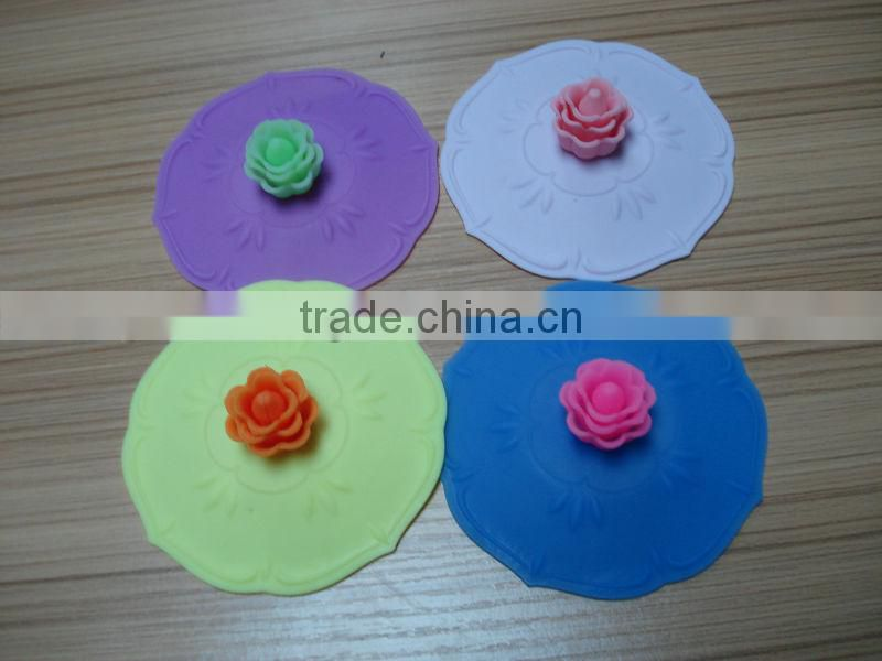customer new fashionable sunflower Silicone lid for cup