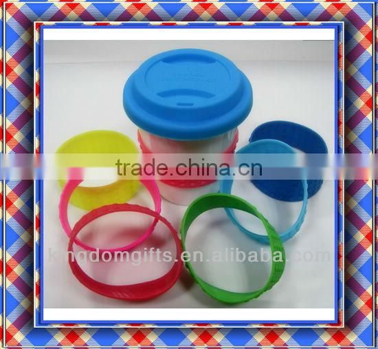 Recycling Colorful Silicone Cup Covers