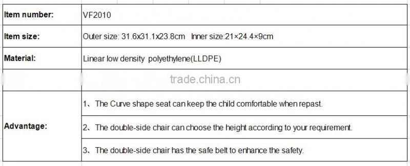LLDPE factory cheap children furniture small low baby eating chair