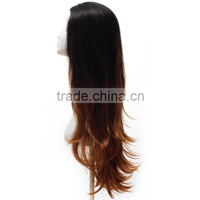 2016 New body wave synthetic wig for black women cheap wholesale wigs