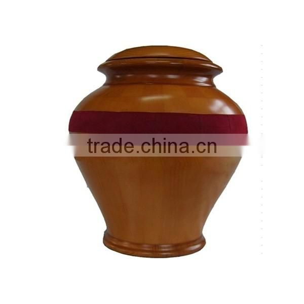 2015 cheapest bottle style wooden urns for ashes in funeral supplier