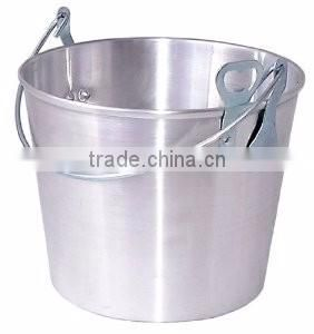 oval shape leather handle metal wine bucket