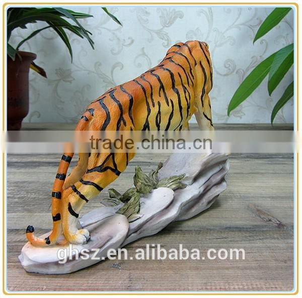Customized garden decoration life like wild animal tiger sculpture