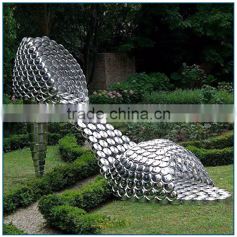 Garden Decoration Large Stainless steel High Heeled Shoes Sculptures