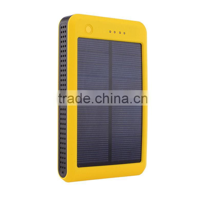 Colorful super slim 10000mah power bank with flexible solar panel