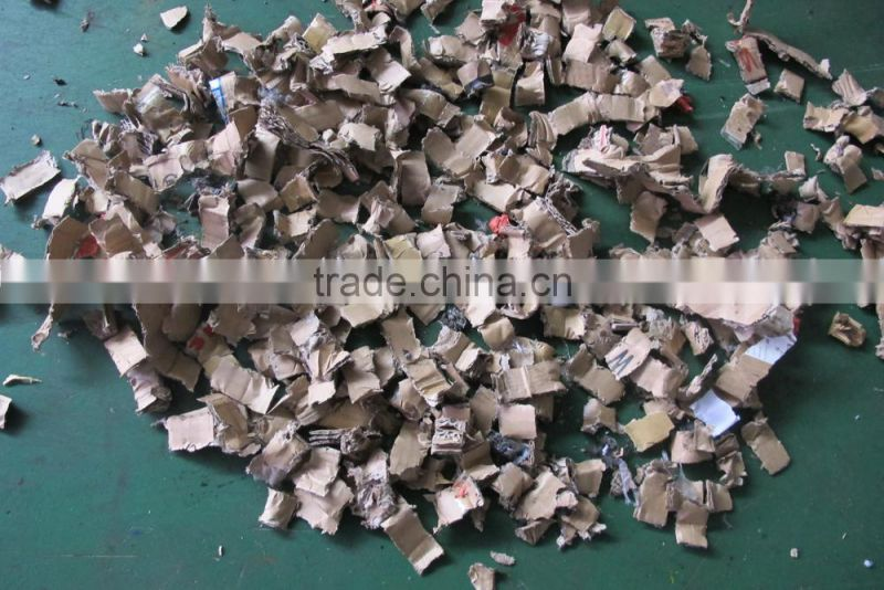 Paperboard shredder recycling machine from China CE & ISO